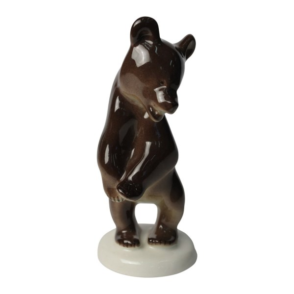 Porcelain figurine Bear cub standing