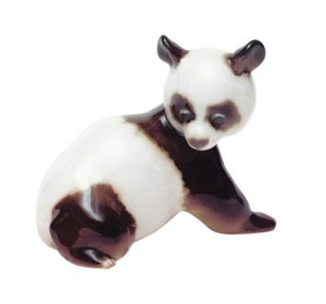 Porcelain figurine Panda Bear cub