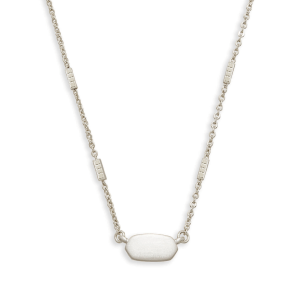 Silver everyday simple classic necklace