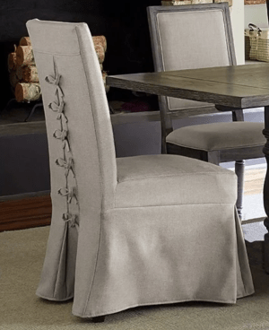 The end chairs in our dining room. These make me so happy!