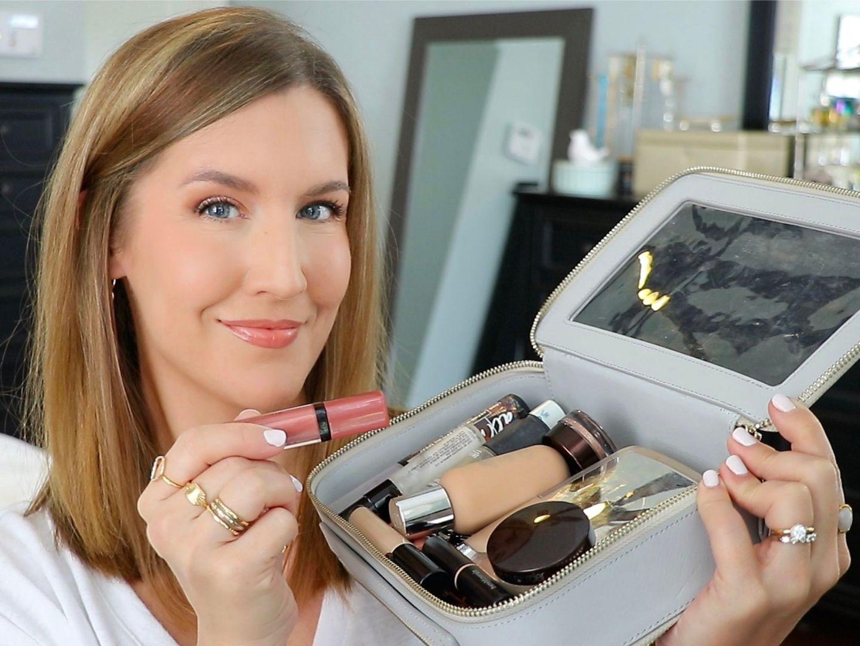 packing a travel makeup bag