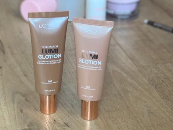 drugstore makeup loreal true match lumi glotion light and medium