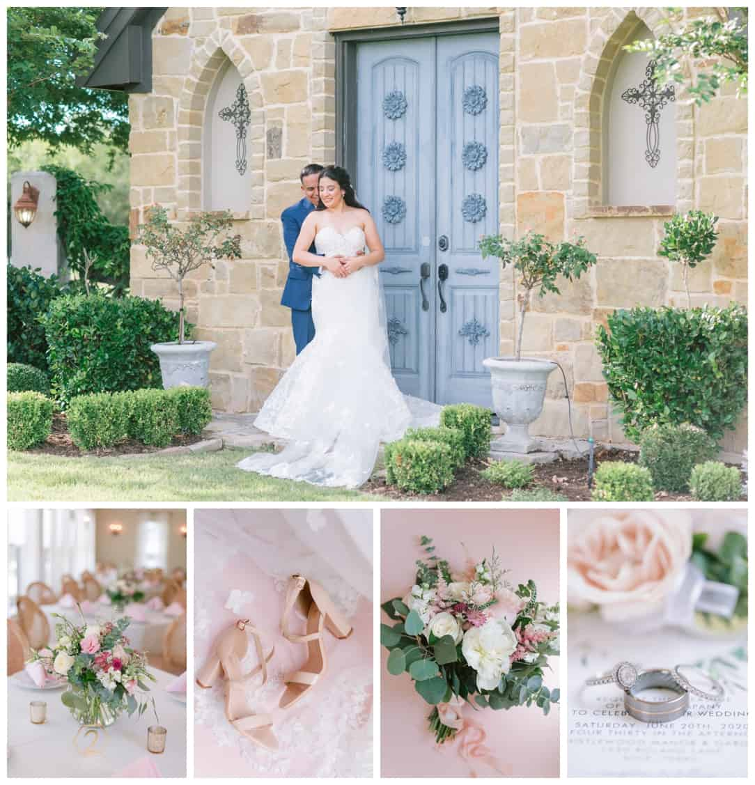 Just Married Couple at Thistlewood manor & gardens wedding