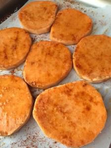 Sweet Potato buns Raw