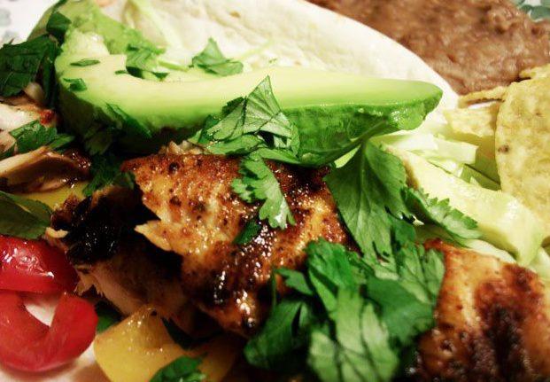 Baked fish Taco avocado