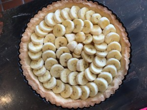 Banoffee Banana layer 1