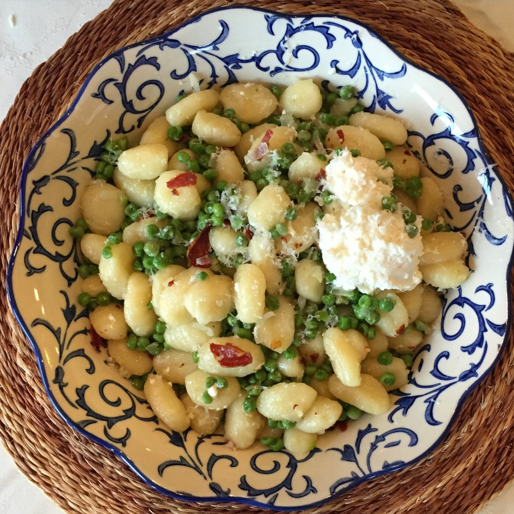 Gnocchi with Peas and Prosciutto