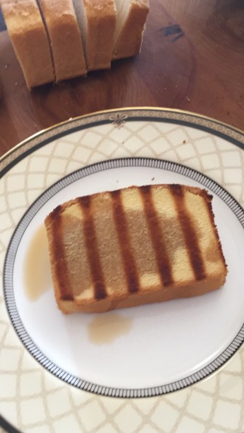Grilled pound cake - coffee