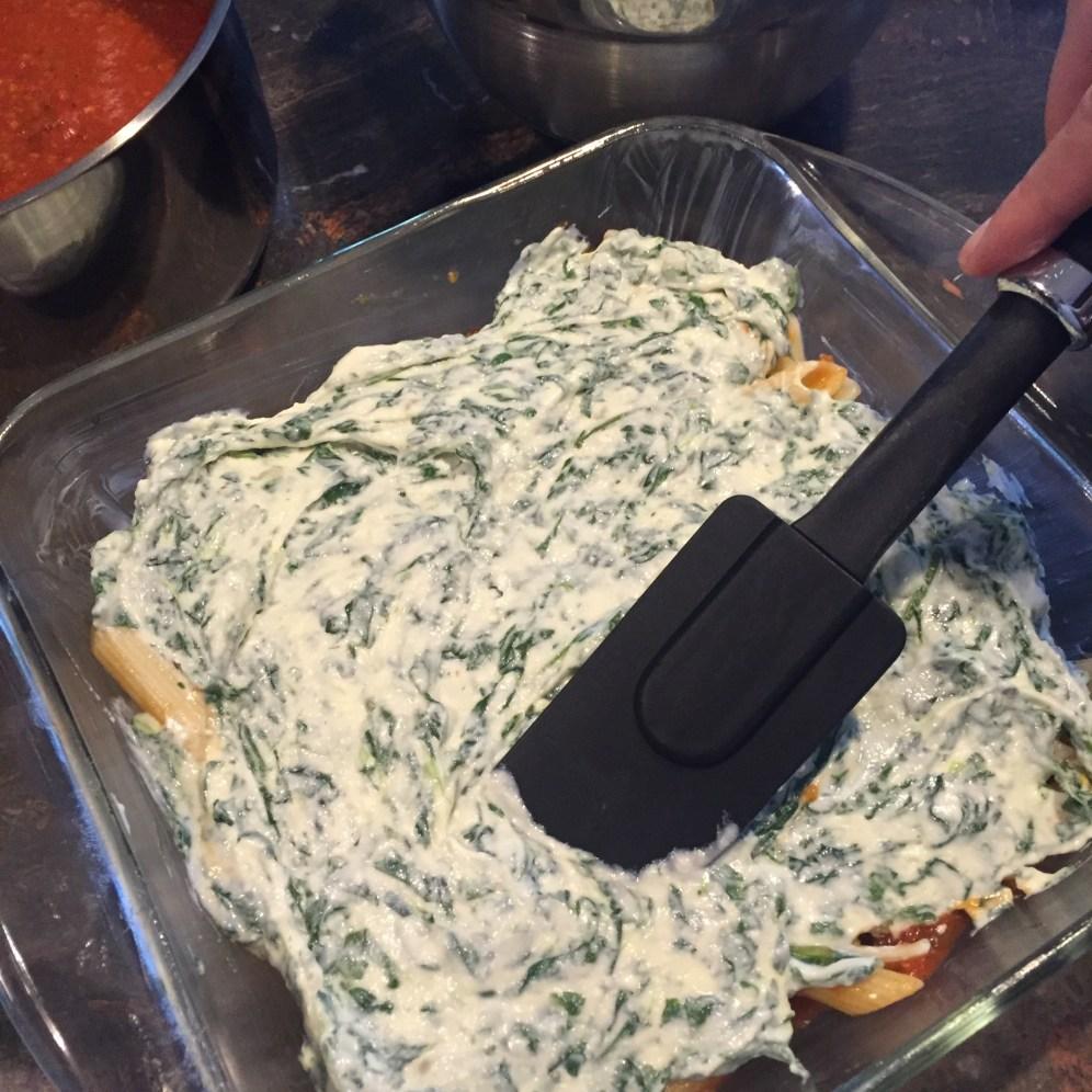 Lazy Lasagna ricotta layer