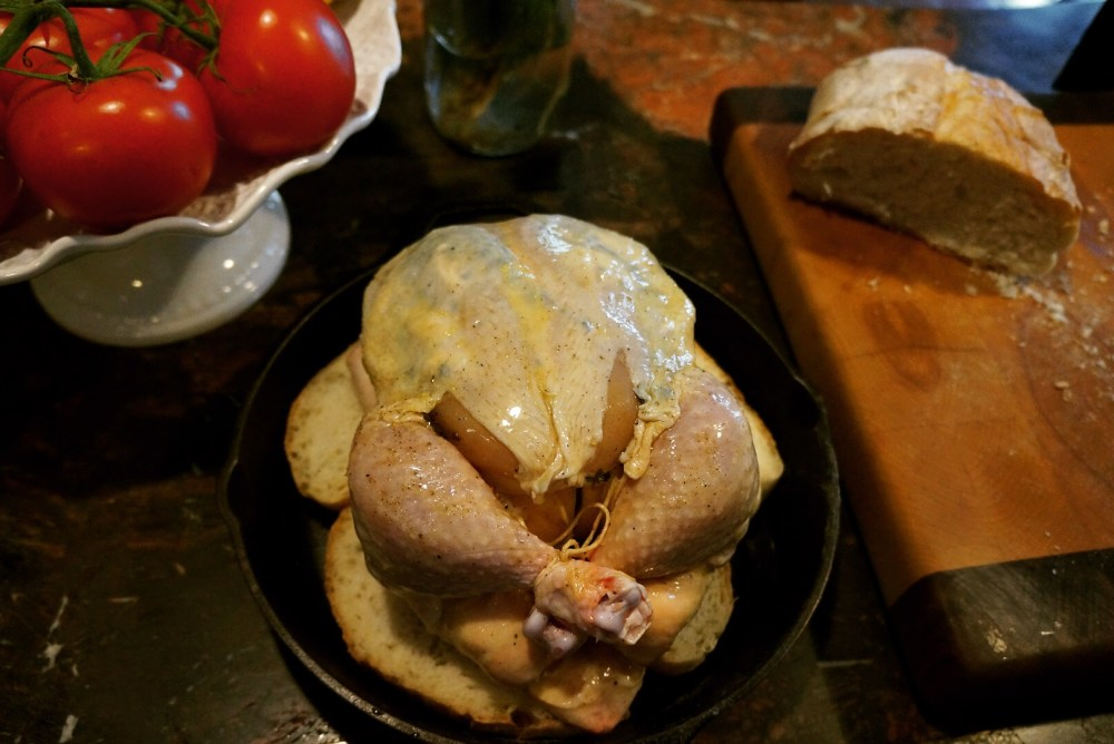 Chicken Raw in Skillet