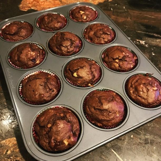chocolate-banana-muffins