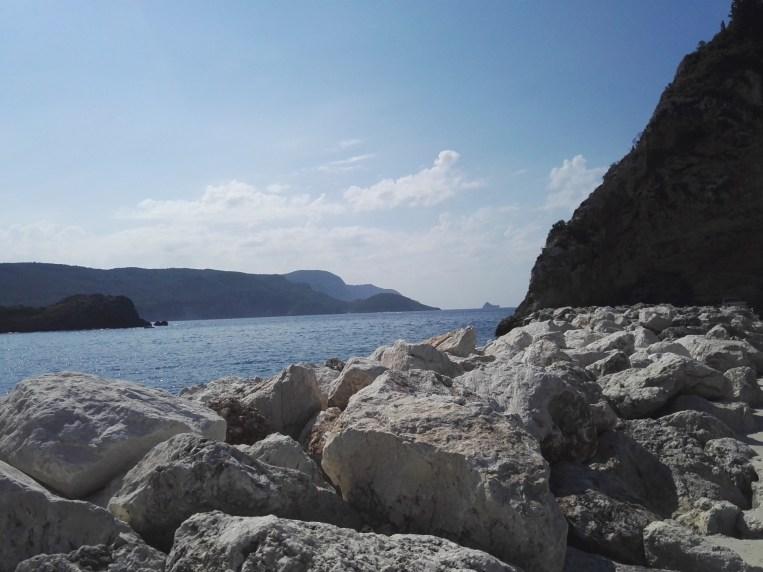 Korfu, Palaiokastritsa, Hafen.