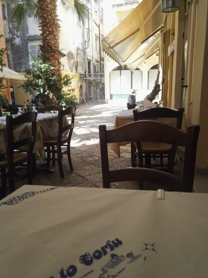 Korfu-Stadt. Restaurant Ta Kokoria.