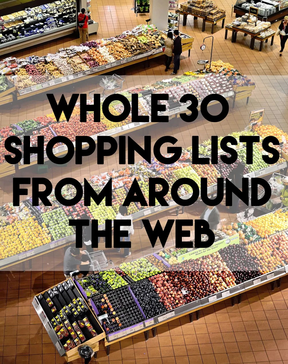 whole 30 shopping lists // stephanieorefice.net