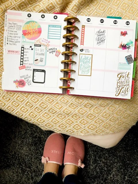 happy planner spread