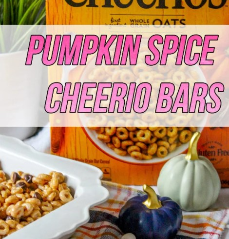 Pumpkin Spice Cheerio Bars
