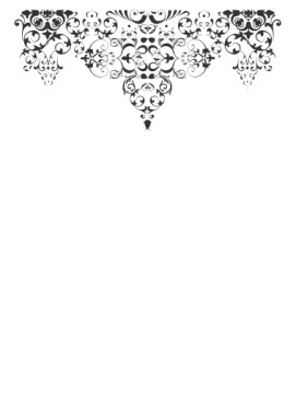 Delicate wedding filigree design used on reception menu.