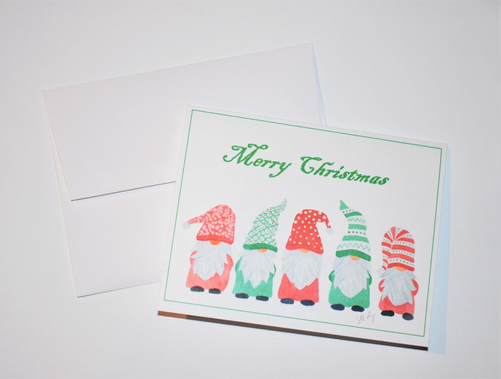 Merry Christmas Gnome Note Card