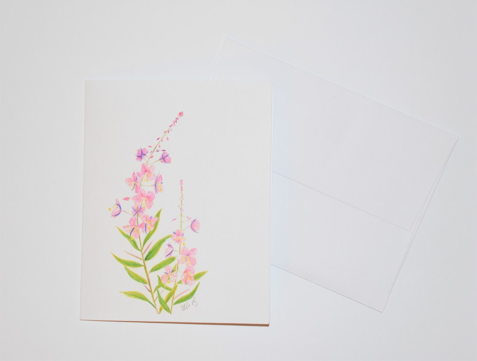 Fireweed Note Card