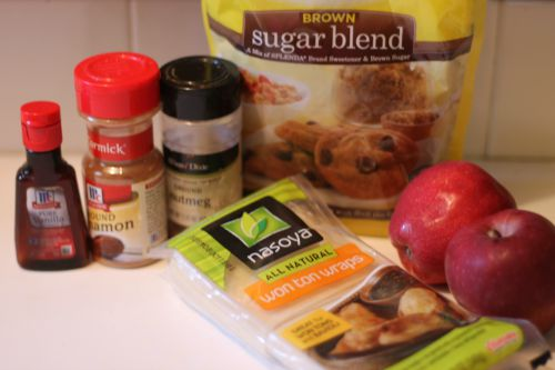 Mini Apple Pie Ingredients