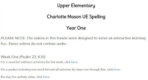 Spelling Course