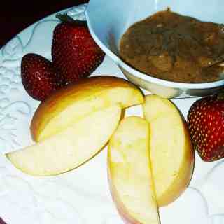 Apples and Almond butter Breakfast