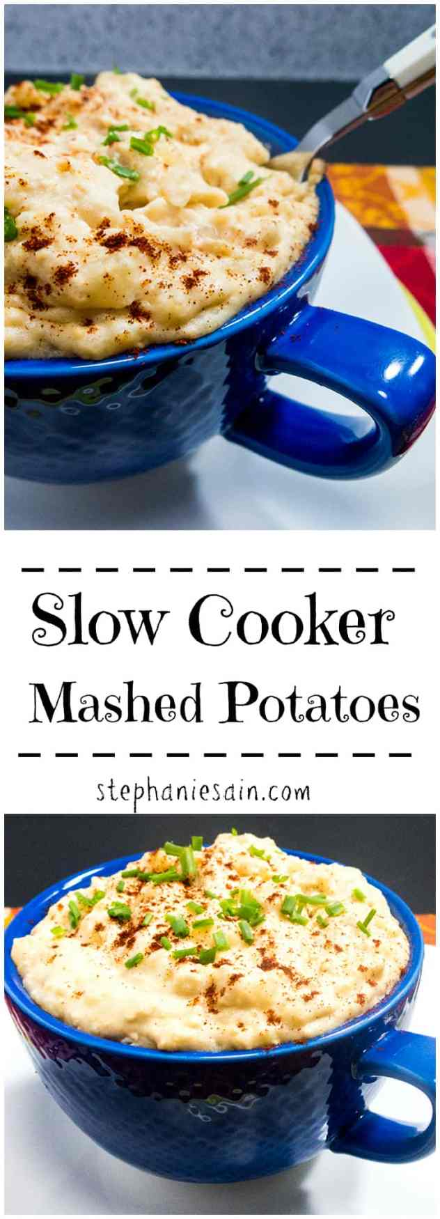 Slow Cooker Mashed Potatoes are so easy to prepare and a tasty, creamy mashed potato perfect for all occasions. Vegetarian and Gluten Free.
