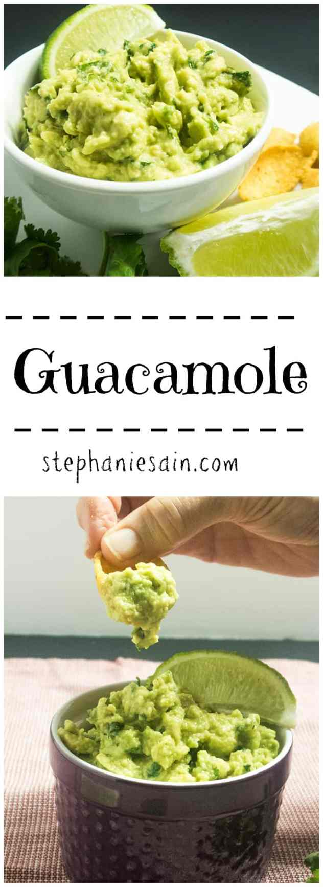 Guacamole is an easy to prepare snack or appetizer. Perfect with chips or crackers and is loaded with healthy fats. Vegetarian, Vegan, & Gluten Free.