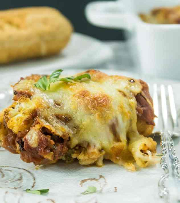 Italian Cauliflower Marinara Bake