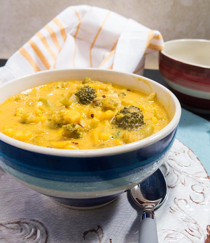 Cheesy Broccoli Corn Chowder