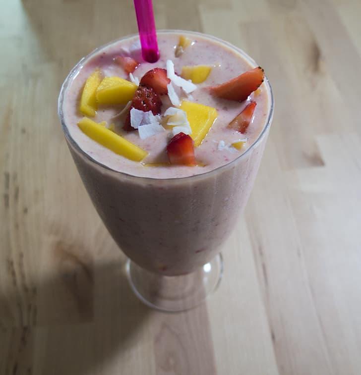 Tropical Mango Coconut Smoothie