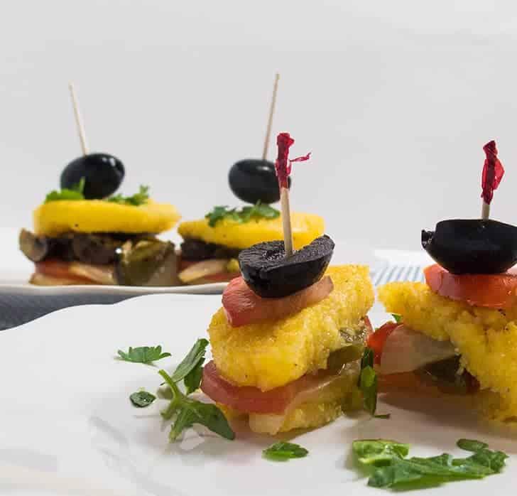 Polenta Grilled Veggie Bites