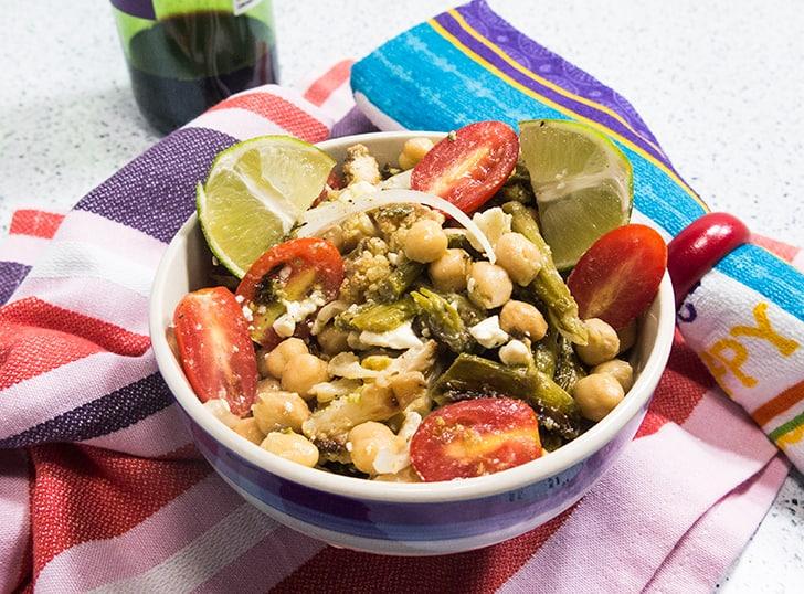 Roasted Asparagus Cauliflower Salad
