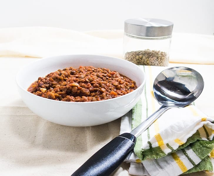 Slow Cooker Barbecued Lentils