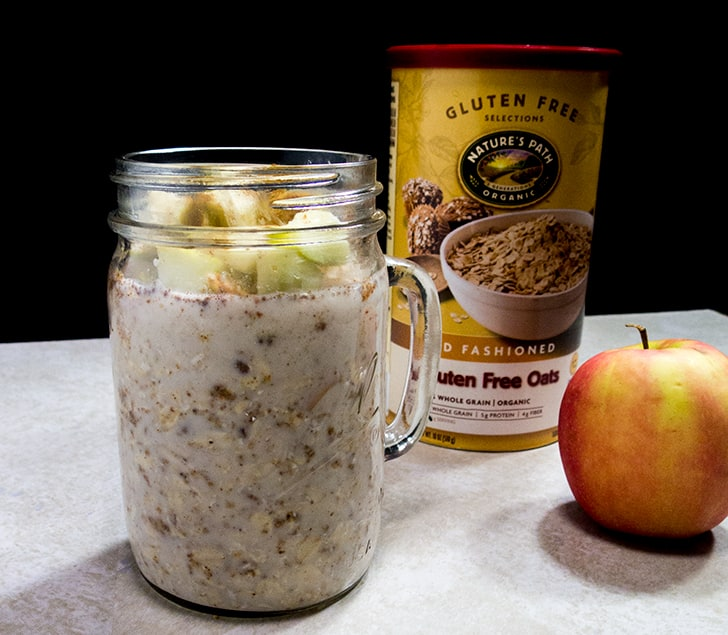 Almond Butter Apple Overnight Oats | Apples for CJ