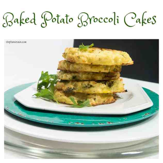 Baked Potato Broccoli Cakes