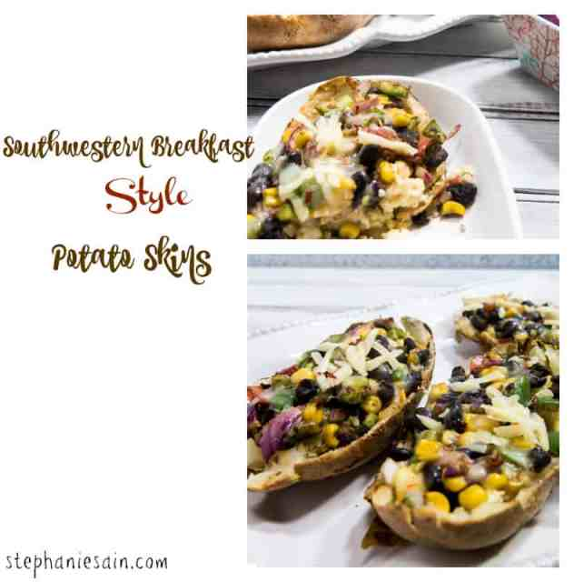 Southwestern Breakfast Style Potato Skins