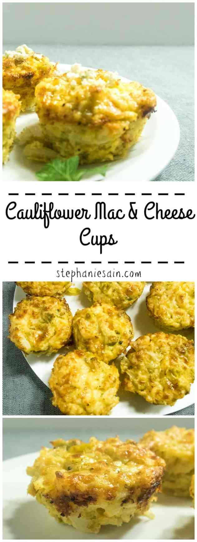 Cauliflower Mac & Cheese Cups are a tasty, healthy and portable way to get in your veggies. Vegetarian & Gluten Free.