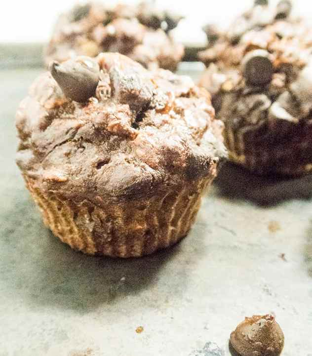 Double Chocolate Chip Oatmeal Muffins