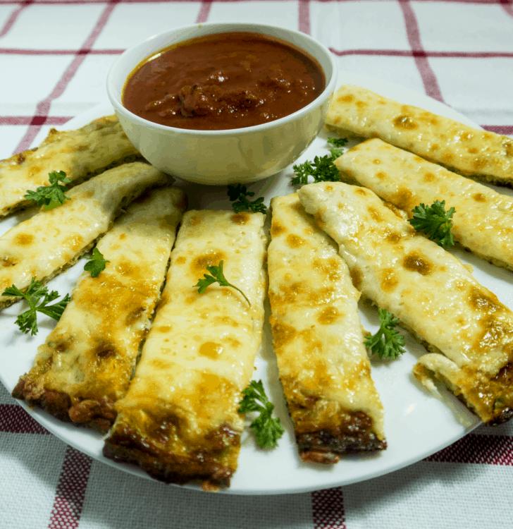 Cheesy Baked Zucchini Breadsticks