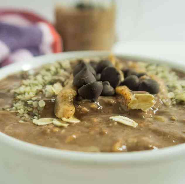 Chocolate Almond Butter Overnight Oats