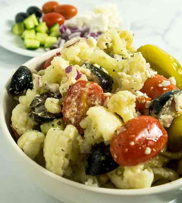 Greek Style Cauliflower Salad
