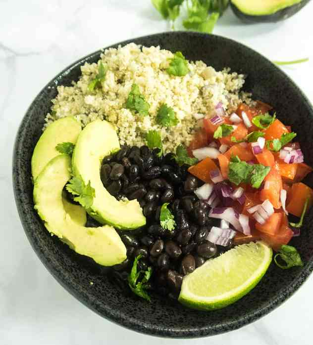 Mexican Cauliflower Rice Burrito Bowl