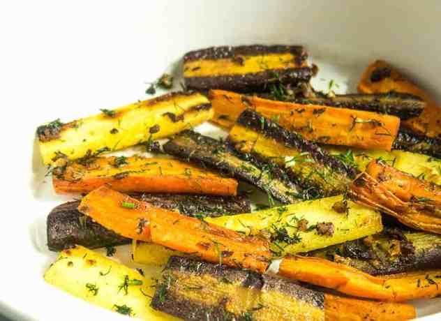 Roasted Garlic Dill Carrots