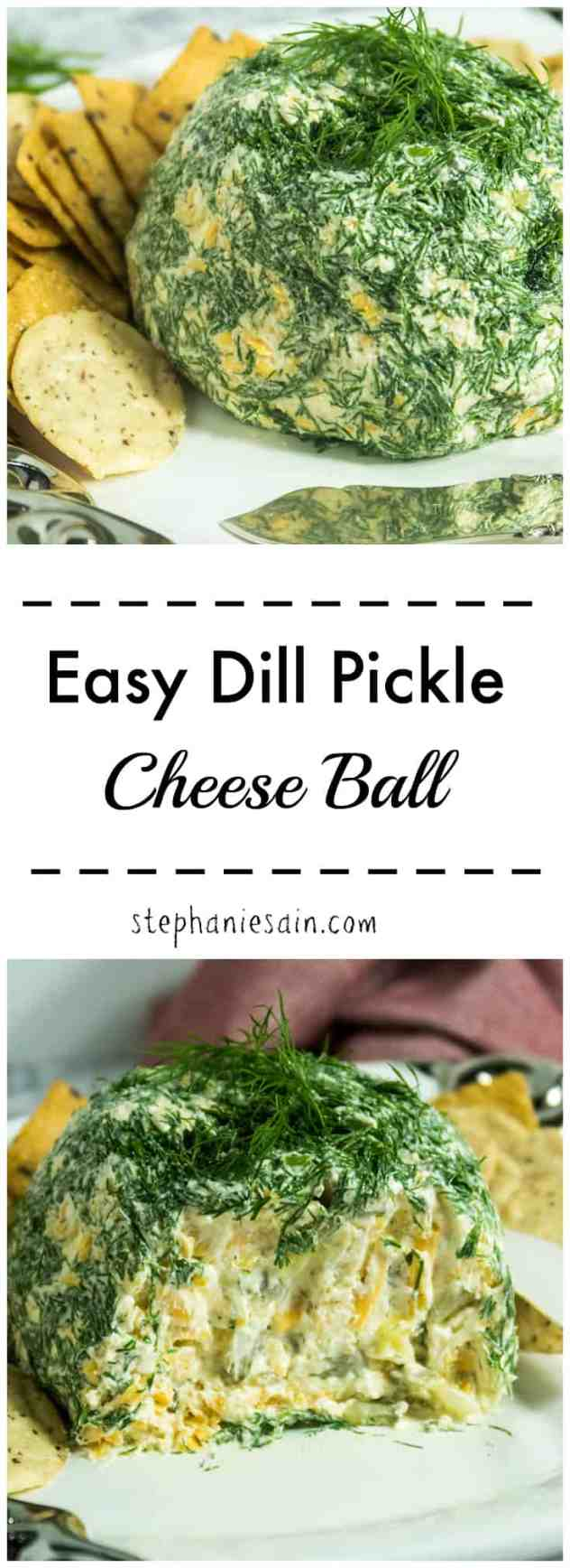Easy Dill Pickle Cheese Ball is perfect for entertaining and gatherings. Can easily be made ahead quickly for a perfect last minute appetizer. Gluten Free & Vegetarian.
