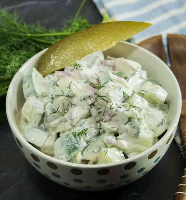 Dill Pickle Cucumber Salad