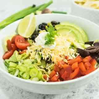 Best Vegetarian Black Bean Taco Salad