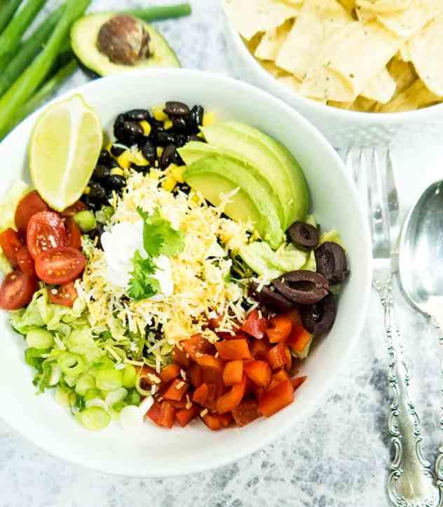 Best Vegetarian Black Bean Taco Salad