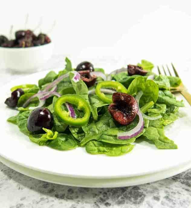 Cherry Jalapeno Spinach Salad