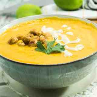 Creamy Smooth Sweet Potato Tahini Soup